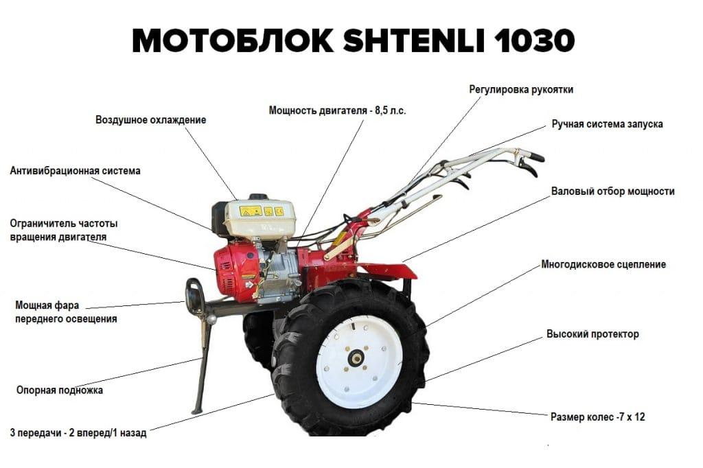комплектация мотоблока штенли 1030